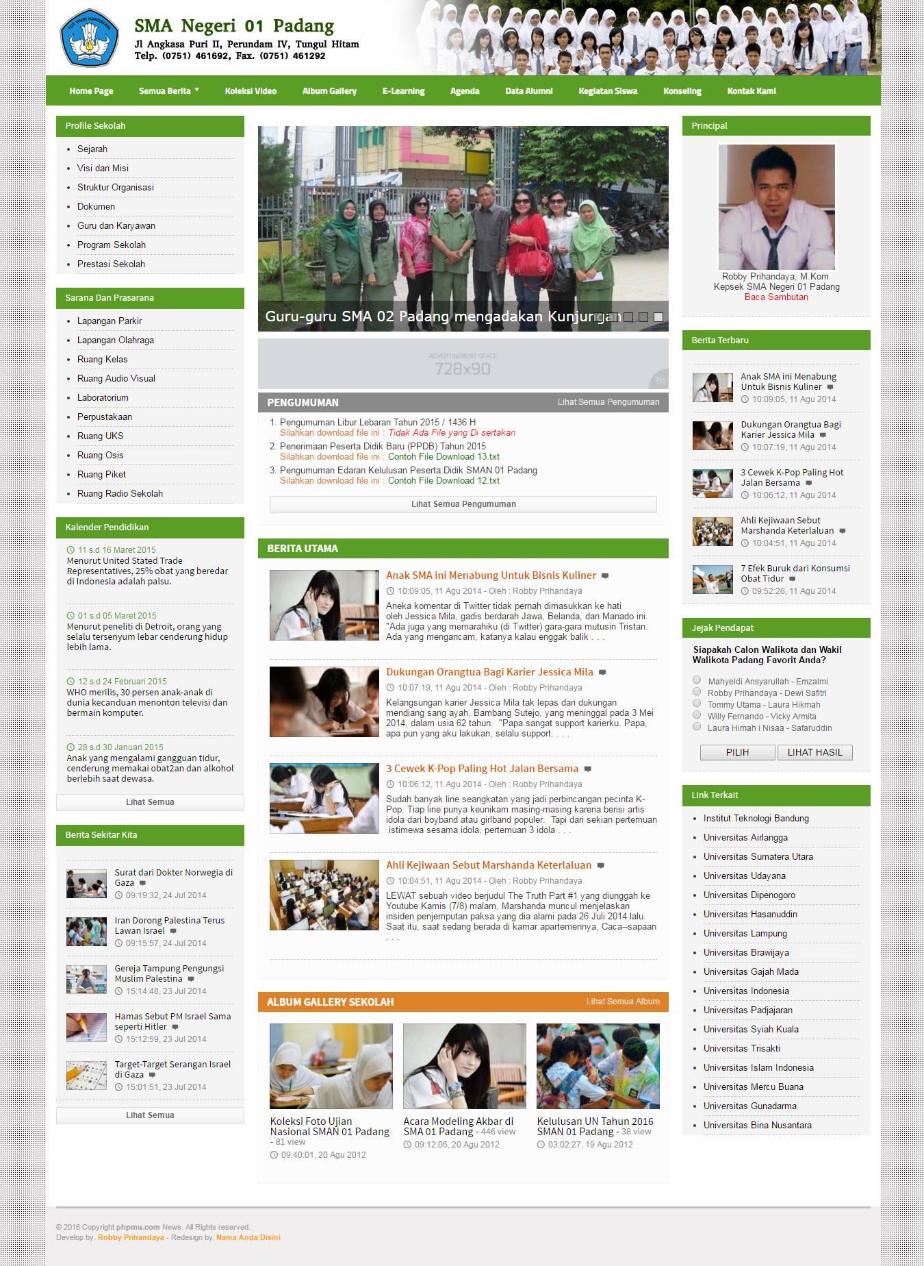 Sikolag Website Sekolah Gratis V 1 Responsive Full Color